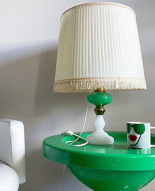 lampe chevet pied opaline vert vintage