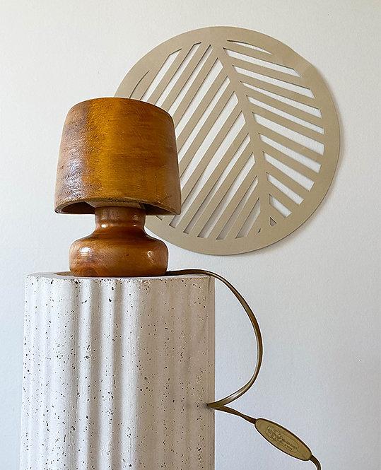 ancienne lampe chevet bois fait main | lovmint