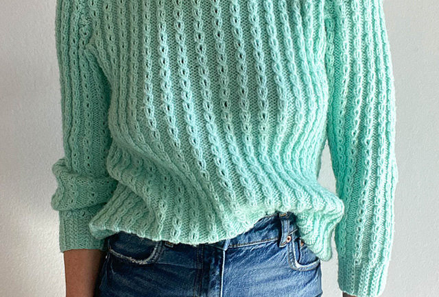 pull couleur amande tricote main | Vintage made in France