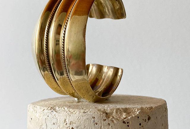 bracelet manchette vintage laiton