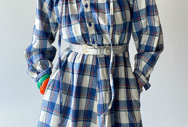 robe volants carreaux folk vintage