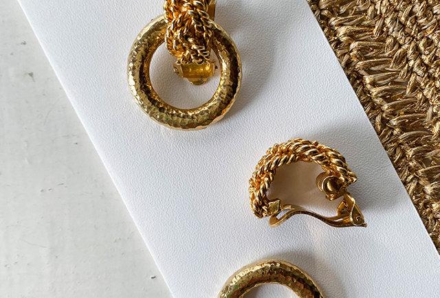 boucles d'oreilles clip créole vintage | hier Store