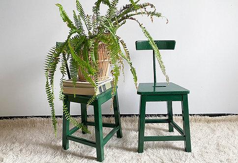 Chaise d'atelier bois