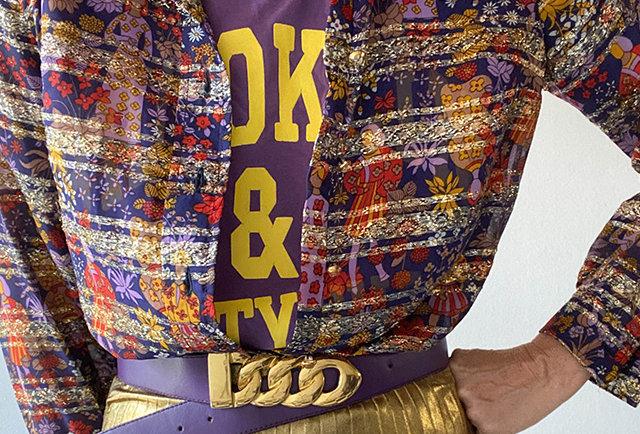 chemise vintage lurex 70