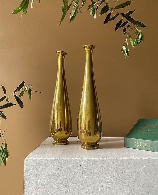 ancien vase soliflore laiton