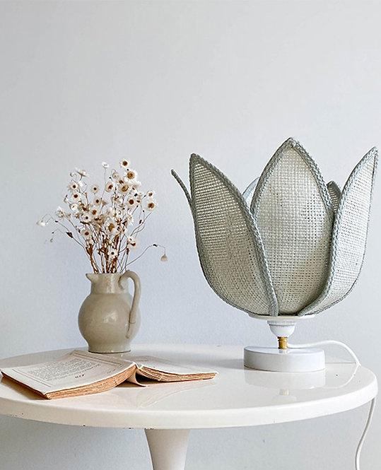 ancienne lampe chevet fleur lotus