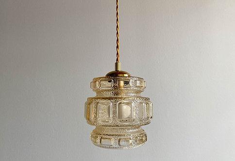 suspension globe vintage verre ambre | lovmint