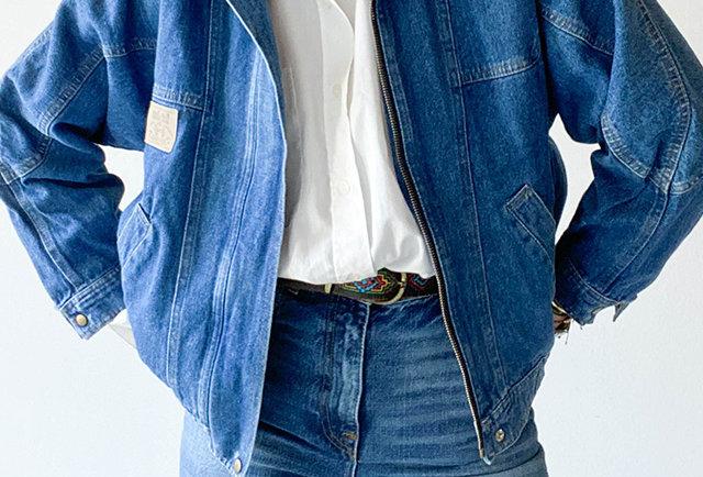 blouson jeans vintage 80 | Hier Store
