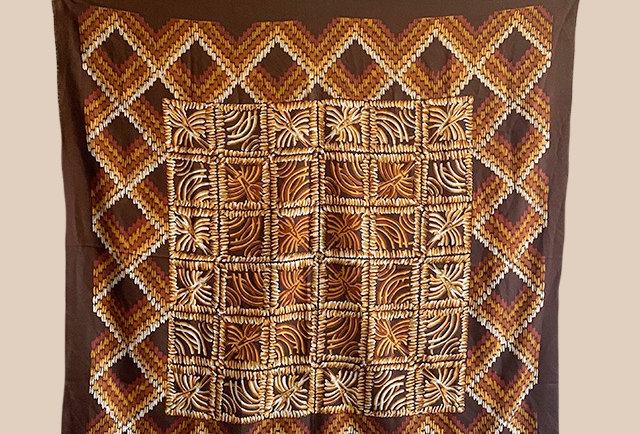 grand foulard laine vintage