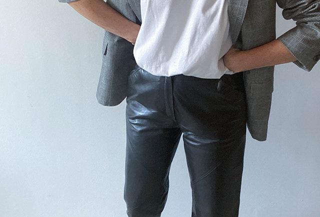 pantalon vintage cuir | Hier store