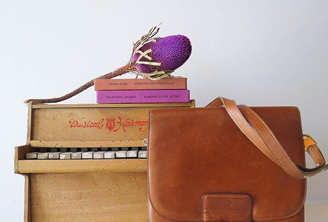 sac cuir vintage | Hier store