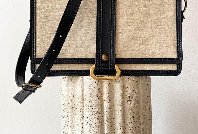 sac besace toile vintage | Hier Store