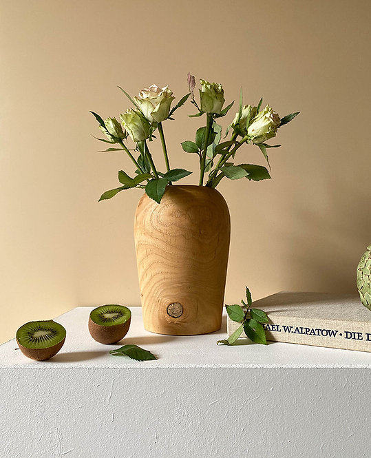 vase en bois artisanat france