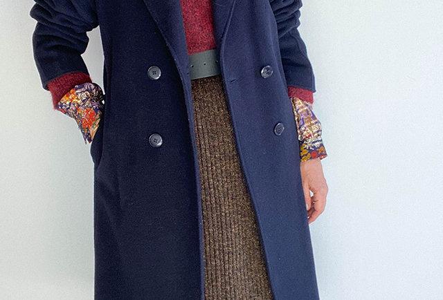 manteau laine marine France