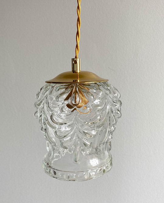 suspension globe vintage verre bulle vintage