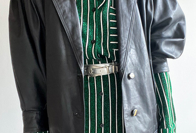 veste cuir vintage 80 | Hier Store
