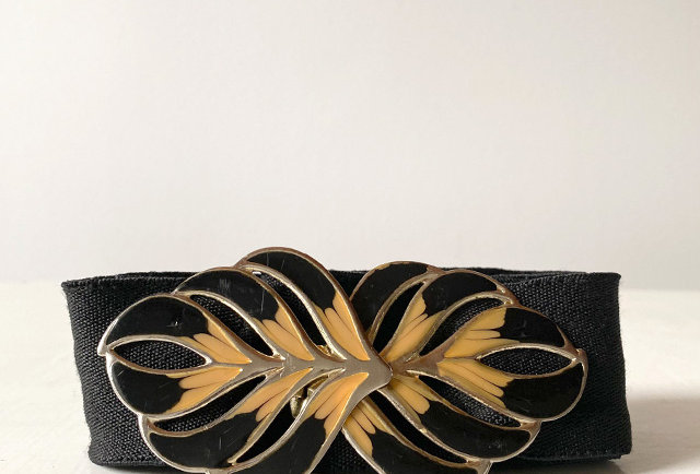 ceinture élastique vintage 80