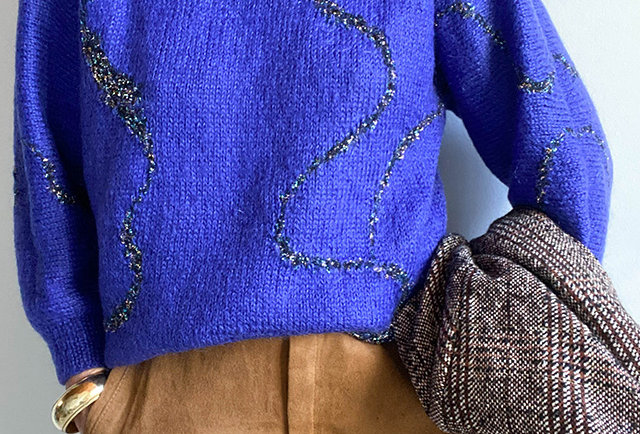pull tricote main mohair | made in france