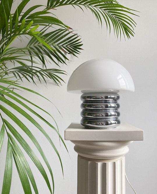 lampe design 70 opaline pied metal   lovmint