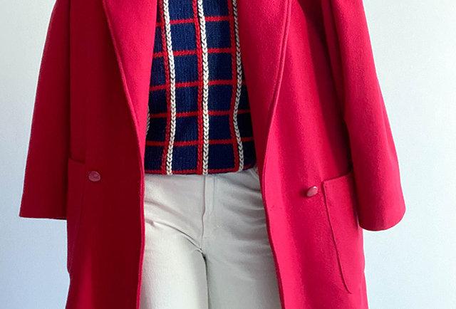 manteau rouge vintage | Hier Store