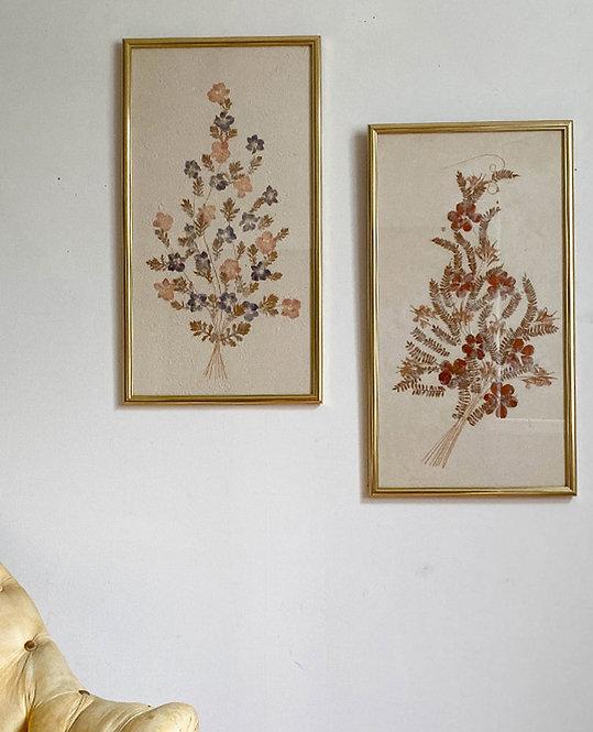 cadre bouquet de fleurs séchées