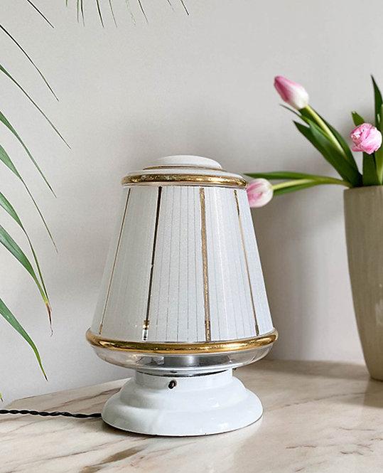 lampe vintage globe art deco verre granite