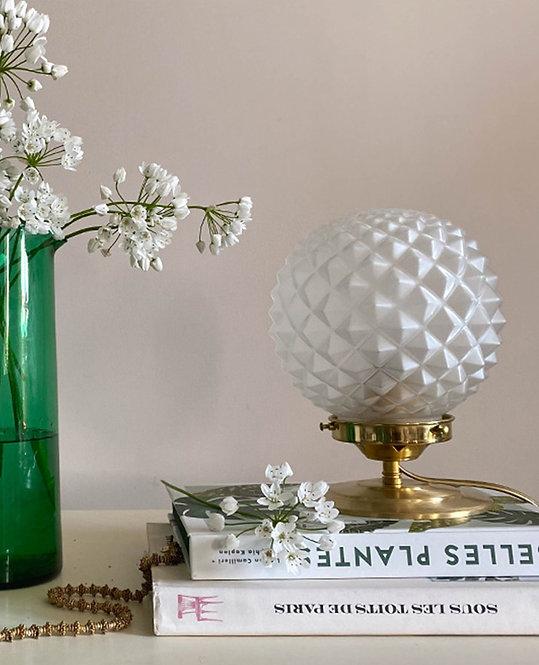 lampe globe vintage verre forme epi