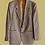 veste blazer carreaux beige vintage