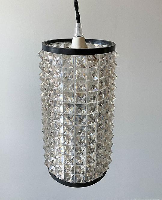suspension conique plexiglas vintage 70