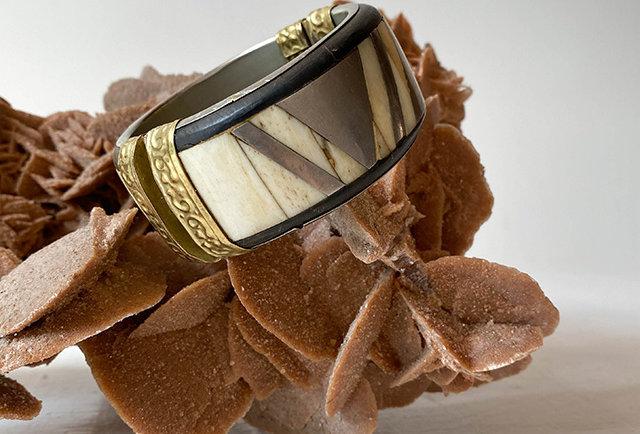 bracelet ethnique ivoire vintage