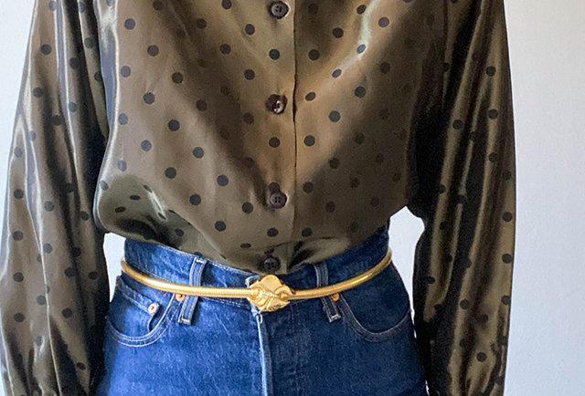 chemise irise vintage a pois | Hier Store