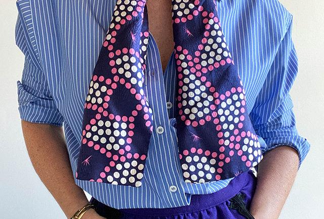 foulard cravate femmes vintage | Hier Store