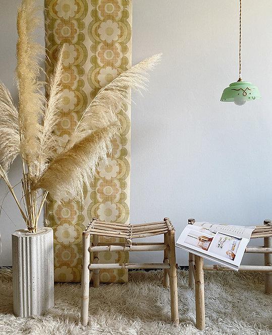 tabouret bois bambou vintage | lovmint