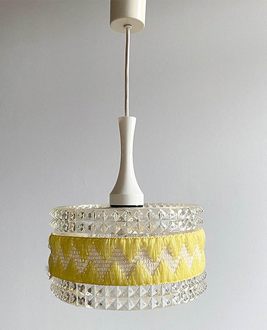 lustre plexi vintage 70 laine | Arlus