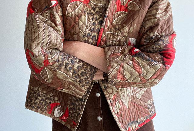veste courte matelassée vintage | made in france
