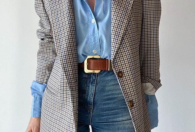 blazer carreaux vintage Italie   Hier store