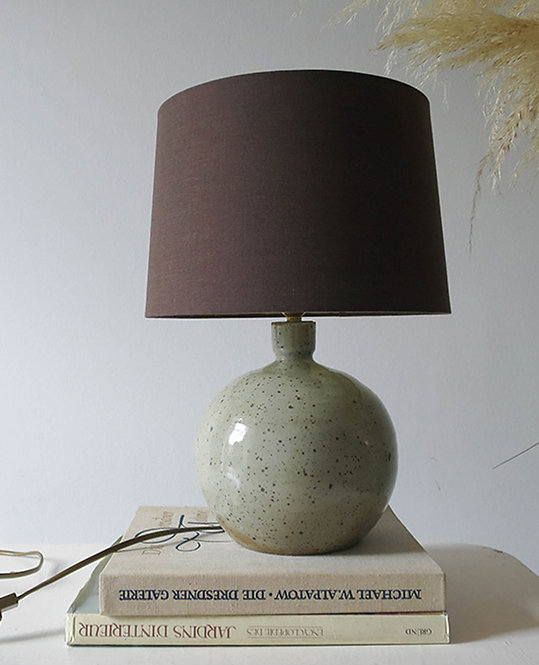 lampe pied vintage gres email cendres