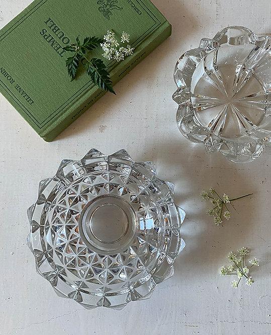 cendriers cristal vintage