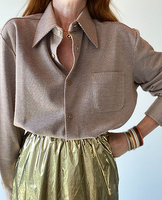 chemise 1970 vintage col xxl hier store.