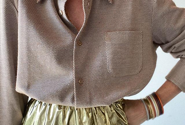 chemise vintage 70 col pelle tarte | Hier Store