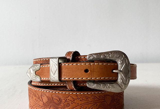 ceinture western cuir vintage