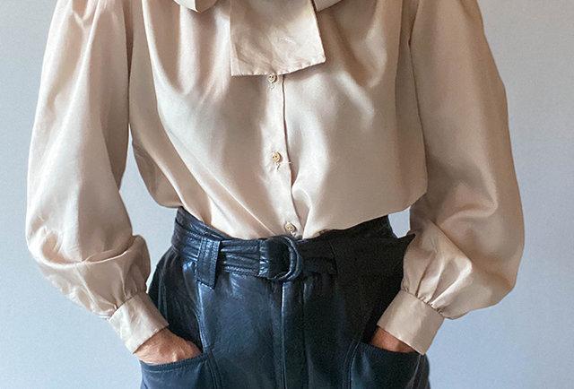 chemise col lavallière vintage