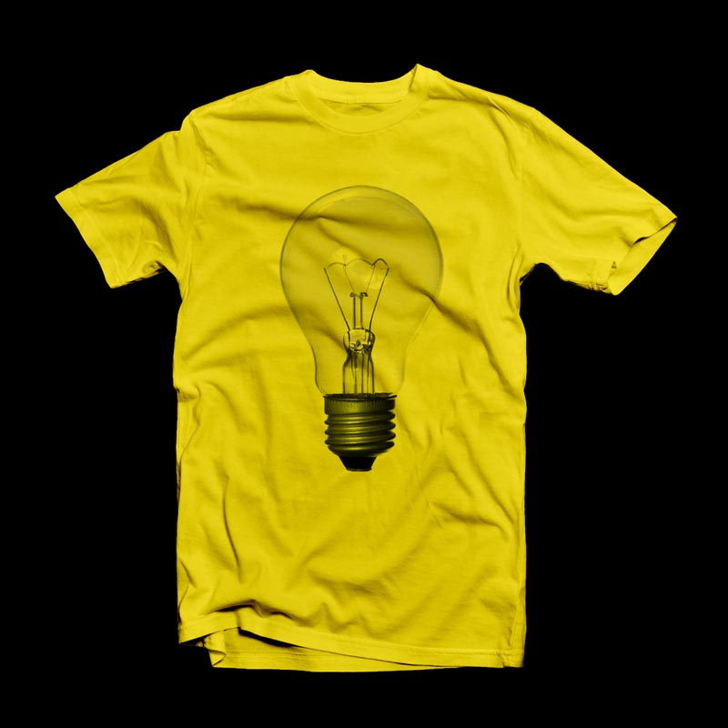 Yellow Bulb Print T-Shirt