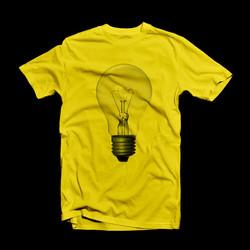 Yellow Bulb Print T-Shirt