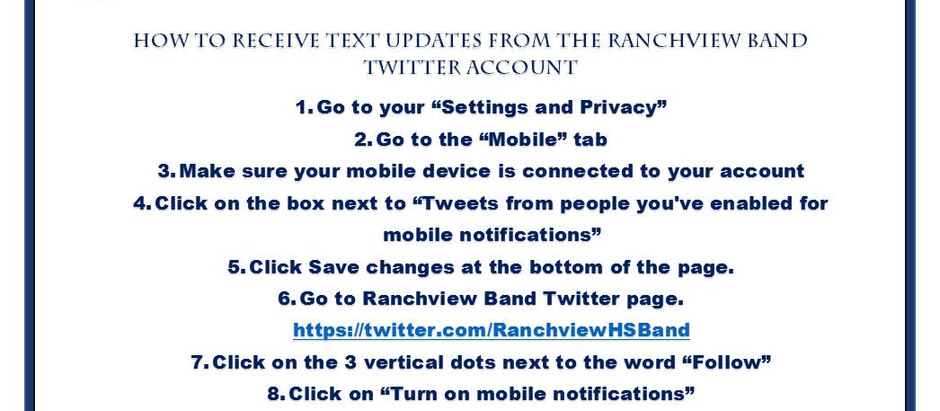 Ranchview Band Now On Twitter