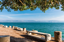Landscape of the sea of Galilee