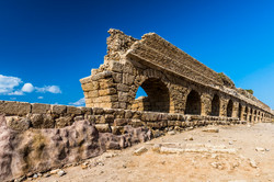 The ruins of the ancient aqueduct