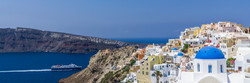 Panorama of the city of Oia in Santorini