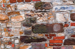 Fortress wall of different stones
