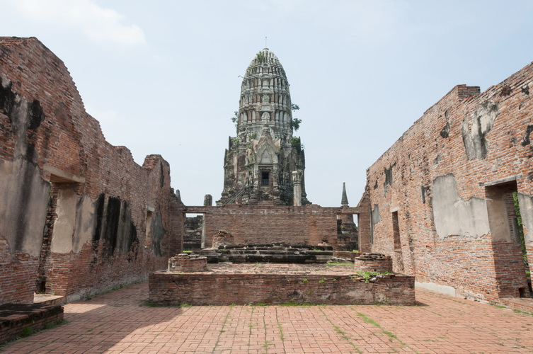 The temple in Ayutthaya